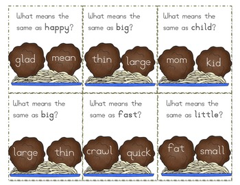 Meatball Madness: Identifying Synonyms & Antonyms Activity Pack