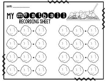 Math Centers {Meatball Math MEGA Pack}