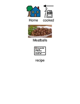 Meatball Recipe - picture supported text / visuals / ingredients PDF format