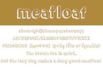 Meatloaf Font for Commercial Use