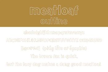 Meatloaf Outline Font for Commercial Use