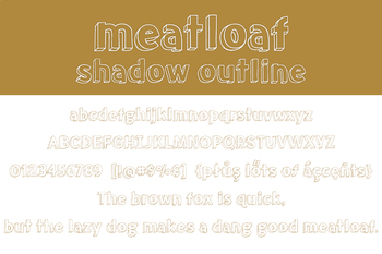 Meatloaf Shadow Outline Font for Commercial Use