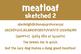 Meatloaf Sketched 2 Font for Commercial Use