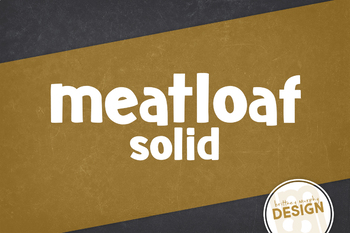 Meatloaf Solid Font for Commercial Use