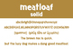 Meatloaf Solid Font for Commercial Use