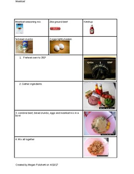Meatloaf visual recipe