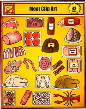 Food Clip Art - Meat and Seafood from Grocery Store by Charlotte's Clips