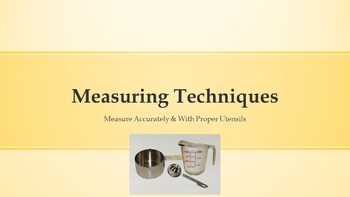 Measuring Techniques Power Point & Questions with Lab Activity