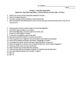 Mechanic Article Questions