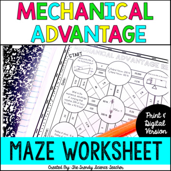 Mechanical Advantage Maze Worksheet