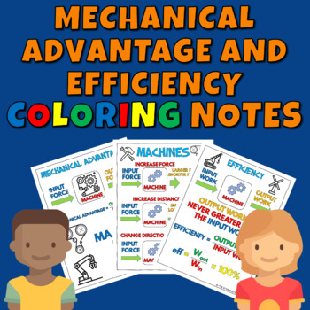Mechanical Advantage and Efficiency Coloring Notes