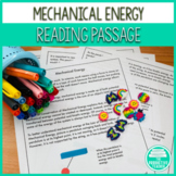 Mechanical Energy Science Reading Passage and Comprehensio