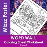 Mechanical Energy Word Wall Coloring Sheet