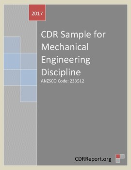 Mechanical Engineering CDR Sample (ANZSCO Code: 233512)