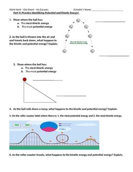 Mechanical Potential Kinetic Energy Practice