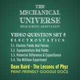 The Mechanical Universe High School Set 5: Electrostatics
