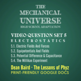 The Mechanical Universe High School Set 5: Electrostatics