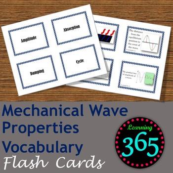 Mechanical Wave Properties Flash Cards