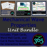 Mechanical Wave Properties Vocab Unit Bundle