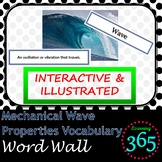 Mechanical Wave Properties Vocabulary Interactive Word Wall