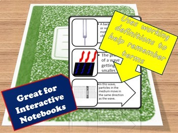 Mechanical Wave Properties Vocabulary for Interactive Notebooks