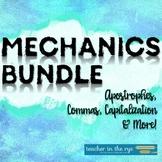 Mechanics Bundle Grammar Usage Middle or High School {CCSS}