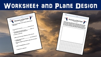 Mechanics of Bird Flight Lesson with Power Point, Worksheet, and Activity Page