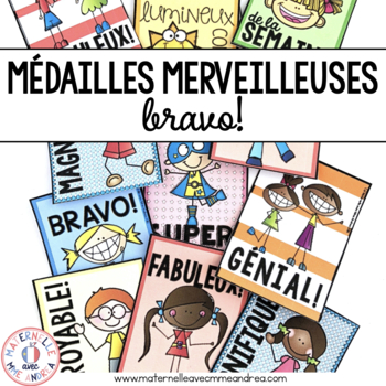 Médailles merveilleuses - Bravo! (FRENCH Brag Tags)