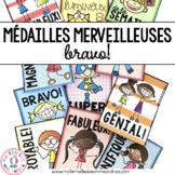Médailles merveilleuses - Bravo! (FRENCH Reward Tags)