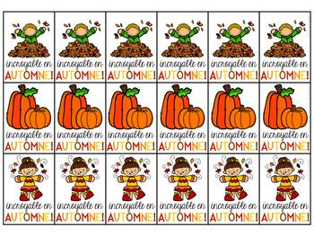 Médailles merveilleuses - C'est l'automne! (FRENCH Fall Brag Tags)