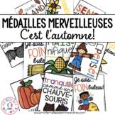 Médailles merveilleuses - C'est l'automne! (FRENCH Fall Reward Tags)