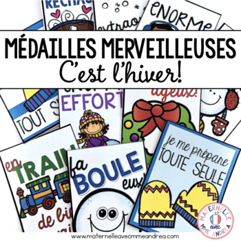 Médailles merveilleuses - C'est l'hiver! (FRENCH Winter/Christmas Brag Tags)