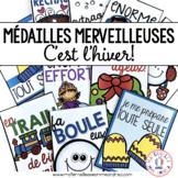 Médailles merveilleuses - C'est l'hiver! (FRENCH Winter/Christmas Reward Tags)