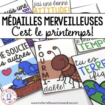 Médailles merveilleuses - C'est le printemps! (FRENCH Spring Reward Tags)