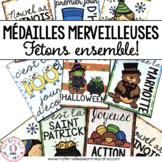 Médailles merveilleuses - Fêtons ensemble! (FRENCH Holiday Brag Tags)