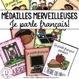 Médailles merveilleuses - Je parle français! (FRENCH Reward Tags)