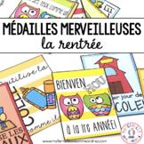 Médailles merveilleuses - La rentrée! (FRENCH Reward Tags)