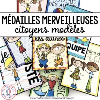 Médailles merveilleuses - citoyens modèles (FRENCH Brag Tags - model citizens)