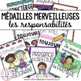 Médailles merveilleuses - les responsabilités (FRENCH Reward Tags)