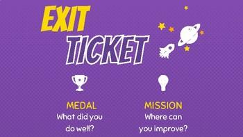 Medal/Mission Exit Ticket