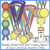 Medals, Rosettes and Trophy Clipart