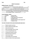 Medea Test / Unit Examination with Answer Key