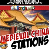 Medieval China Reading Stations with Key Questions & Graphic Organizer