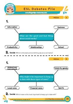 Media - 2 x ESL Debates Activities