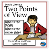 Two Points of View - Media Literacy Free Activity Sheets