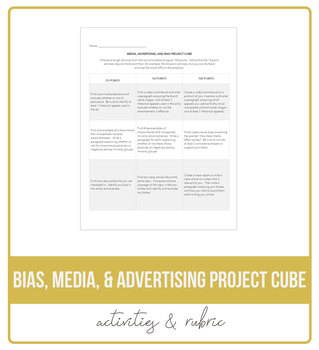 Bias, Media, & Advertising Project Cube
