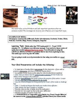 Media Analysis: Oral Presentation w/ a Focus on Bias