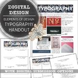 Media Art or Intro to Design, Elements of Design Typograph