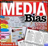 Media Bias News Articles & Fake News Analysis Questions Distance Learning Vol. 2