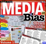 Media Bias News Articles & Fake News Analysis Questions Distance Learning Vol. 1